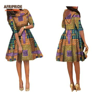 Fashion african clothes style dress for women sexy lady knee length skirt