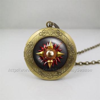 Game of thrones Locket necklace,Game of thrones house martell crest Photo locket necklace,a song of ice and fire photo locket