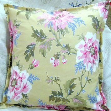 "NEW COLLECTION - Ralph Lauren Fabric - Pair (2) Custom Made Pillow Shams - 18"" x 18"""