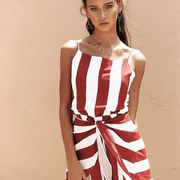 Cherry Stripe Playsuit - Playsuits by Sabo Skirt