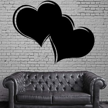 ENTWINED HEARTS LOVE & ROMANCE VALENTINES DAY Wall MURAL Vinyl Art Sticker Unique Gift M164