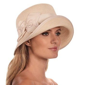 Eric Javits Women's Luxury Headwear Gwyn Hat (Cream)