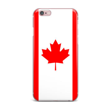 "Bruce Stanfield ""Flag of Canada"" Red White iPhone Case"