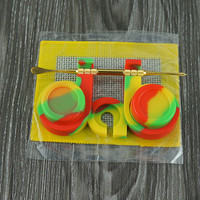 Silicone Dab Station, 2 Silicone Containers, Dab Mat, Dabber,