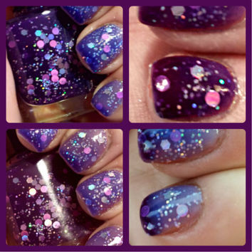 """NEW - Color Changing Thermal Nail Polish - """"FANTASY"""" - Temperature Changing - Custom Blended Polish/Lacquer - 0.5 oz Full Sized Bottle"""