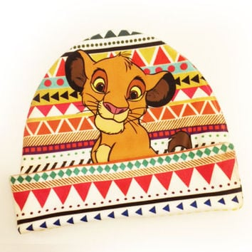 Lion King Beanie | Simba Aztec Tribal Print | Disney Hat