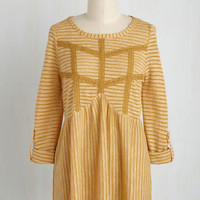 Accept the Inevitable Top in Sunflower | Mod Retro Vintage Short Sleeve Shirts | ModCloth.com