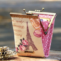 Business card holder Eiffel Tower / Credit card case / Credit card organizer / Fold card case