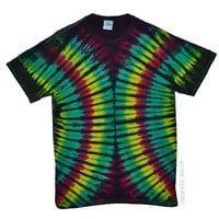 Rasta Helix Tie Dye T Shirt on Sale for $16.95 at HippieShop.com