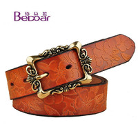 Buy Benita Genuine Leather Print Belt | YesStyle