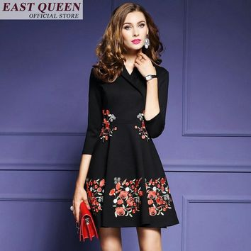Mexican embroidered dress boho clothing for women boho chic style hippie chic dress FF173 A