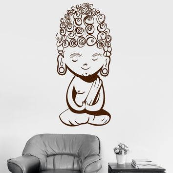 Vinyl Wall Decal Teen Baby Buddha Meditation Mantra Buddhism Stickers Unique Gift (ig3033)