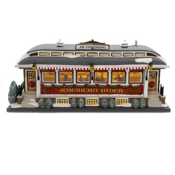 Department 56 House AMERICAN DINER Porcelain Christmas In City 799939