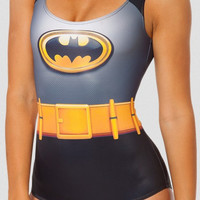 Batman Digital Print One Piece Swimsuit
