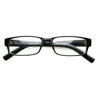 Classic Thin Rectangle Clear Lens RX Optical Glasses 8061