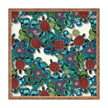 Sharon Turner Turtle Reef Square Tray