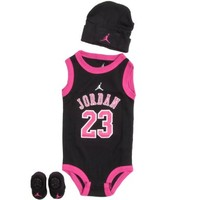 Jordan Baby Clothes 3 Piece Basketball Jersey Set (0-6 months) Black, 0-6 Months