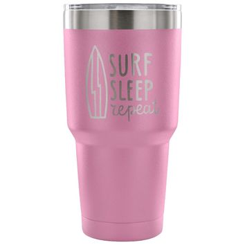 xx Surf Sleep Repeat 30 oz Tumbler - Travel Cup, Coffee Mug