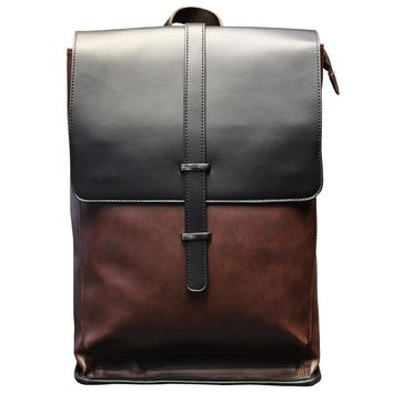 handmade leather backpack travel bag laptop bag school bookbag for men women 2