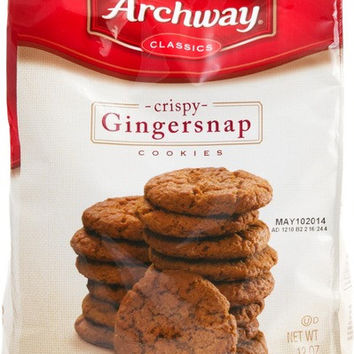 Archway Cookies Gingersnap - Bag Cookies 12 ounces (6 Bags)