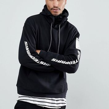 Wasted Paris Squadra Hoodie In Black at asos.com