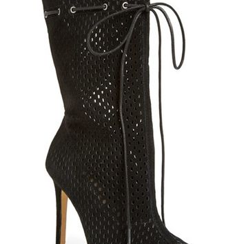 Steve Madden 'Forsaken' Perforated Peep Toe Boot (Women) | Nordstrom