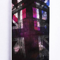 Tardis Doctor Who American Flag for Iphone 5 / 5s Hard Cover Plastic
