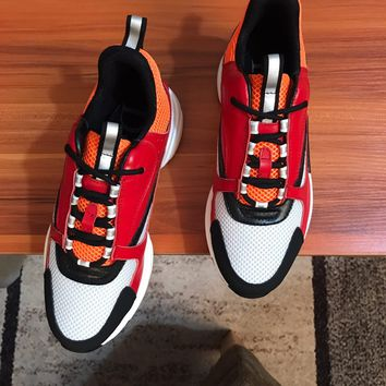 Dior Man Fashion Casual Shoes Men Fashion Boots fashionable Casual leather Breathable Sneakers