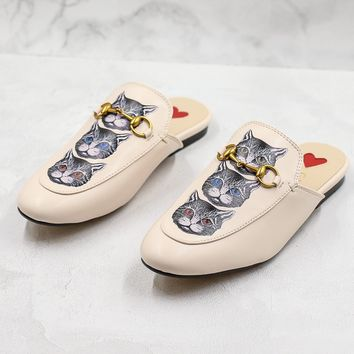 Gucci Princetown Slipper With Mystic Cat - Best Online Sale