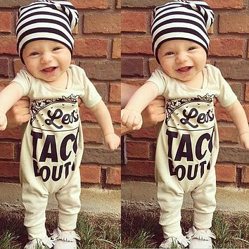Newborn Infant Baby Boy Girl Kids 0-18M Romper Jumpsuit Cotton Short Sleeve Clothes Baby Girls Outfit