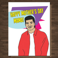 Funny Mother's Day Card Slater Saved By the Bell Pop Culture 90's Card Mom Card