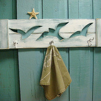 Seagull Hook Coat Rack Beach House Decor