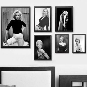 Marilyn Monroe Retro Vintage Movie Wall Art Wall Decor Silk Prints Art Poster Paintings For Living Room No Frame