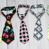 Baby Boy Neck Tie. Your Choice. Wedding, Photo prop, church, everyday wear