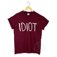 IDIOT T SHIRT MICHAEL CLIFFORD 5 SECONDS OF SUMMER HIPSTER TUMBLR FASHION GIFT