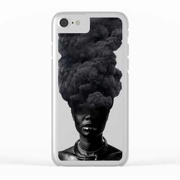 Smoke Face Clear iPhone Case by Nayers