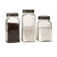 Dyer Glass Canisters - Set of Three