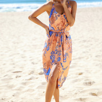Race For The Sun Midi Dress