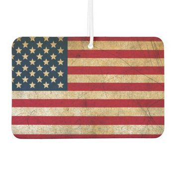Vintage American Flag Car Air Freshener