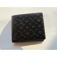 LOUIS VUITTON MEN'S LEATHER WALLET SHORT WALLET H168
