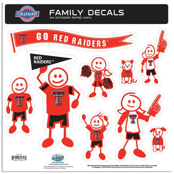 Texas Tech Raiders Family Decal Set Large 2CFLD30