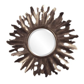 Compass Starburst Mirror