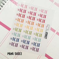 The Phrases | #TGIF | Multicolored Multiples | Planner Stickers