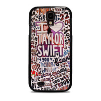 Taylor Swift Song Collage Actrees Samsung Galaxy S4 Case