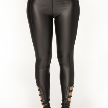Shook Up Active Leggings - Black