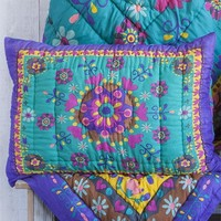 Purple  &  Green  Natural  Life  Pillow  Sham  From  Natural  Life