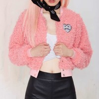 Lazy Oaf So Broke Bomber Jacket