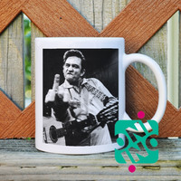 Johnny Cash Coffee Mug, Ceramic Mug, Unique Coffee Mug Gift Coffee