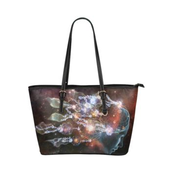 Psylocke Genuine Leather Tote Shoulder Bag Large Capacity with Dream Catcher Design