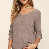 Casual Friday Taupe Sweater